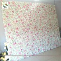 Wholesale UVG wedding planner party flower arrangements in silk rose flower wall for backdrop decoration CHR1138 from china suppliers