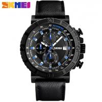 Wholesale Wholesale Fashion 1/10 Stopwatch Chronograph Multifunction Genuine Leather Strap Quartz Waterproof 30m Watches 1350 from china suppliers