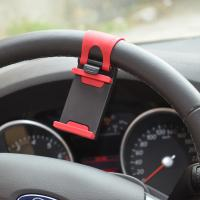 Wholesale Car Mount Holder Clamp Universal Mobile Phone Car Steering Wheel Cradle Mount Holder from china suppliers