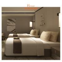 Wholesale Villa Furniture Hotel Twin Beds Environmental Friendly Lacquer from china suppliers