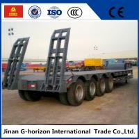 Wholesale High Loading Capacity Low Bed Semi Trailer 3 Axle 60T 7950+1305+1305 mm Wheelbase from china suppliers