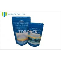 Wholesale Matte Finished Salt Stand Up Pouch Packaging Zip Lock Tear Notch 8oz / 16oz from china suppliers