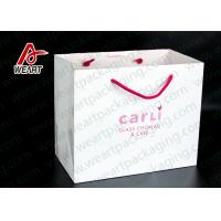 Wholesale White Card Paper Custom Printed Grocery Bags , Personalized Paper Wine Bottle Gift Bags from china suppliers