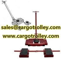Steerable machinery moving skates details with pictures