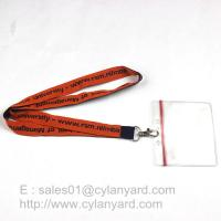 Quality Custom made woven lanyards, low cost woven neck ribbons factory from China for sale