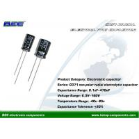 China CD71 Non-Polar 6.3V - 160V DC Aluminum Radial Electrolytic Capacitors for Signal Coupling and Speakers on sale
