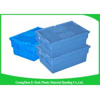 Wholesale Economic Plastic Food Storage Plastic Boxes , Supermarkets Attached Lid Distribution Containers from china suppliers