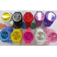 Wholesale Popular Jelly Customized Color Quartz Movement Fashion Ice Silicone Watches for Sport from china suppliers