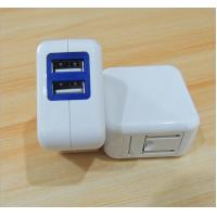 Wholesale 5v 2a 2 ports USB white charger 2.0 quick charge folding foot mobile phone charger from china suppliers