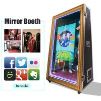 Buy cheap 65 Inch Infrared Touch Screen Photobooth Mirror 4K Selfie Magic Mirror Photo Booth For Sale from wholesalers