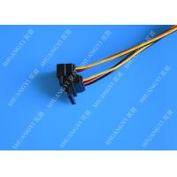 Computer Molex 4 Pin To 2 x15 Pin SATA Data Cable Right Angle Pitch 5.08mm