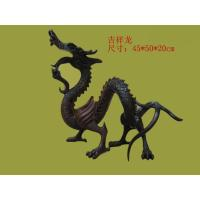 Quality 2014 hot sale Chinese bronze dragon sculpture for sale