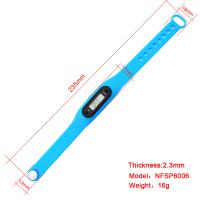 Quality Skinny Pedometer Bracelet Full Printing Pattern Promotional Gift Children LCD Digital Watch for sale