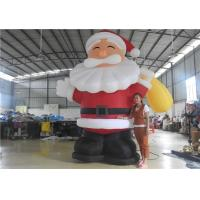 Wholesale European Standard Inflatable Cartoon Characters , 3m Inflatable Santa Claus from china suppliers