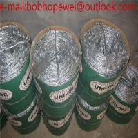 Buy cheap 25kg coil security high quality barbed wire length per roll for military fence/high tensile barbed wire price per roll from wholesalers