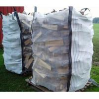Wholesale Ventilated Firewood Mesh PP Bulk Bag Two Side Stripe Fabric 100% Virgin Polypropylene from china suppliers