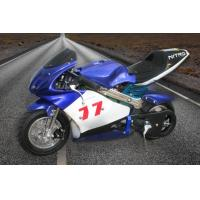 Wholesale Bright Blue Color Dirt Bike Motorcycle / Electric Pocket Bike 350 Watt Max Speed 30km/H from china suppliers