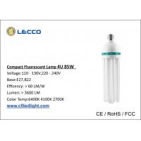 Wholesale 4U 85W Energy Saving Fluorescent Bulbs , High Efficiency Light Bulbs T5 6400K from china suppliers