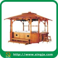 Wholesale Luxury garden wooden gazebo(WG-02) from china suppliers
