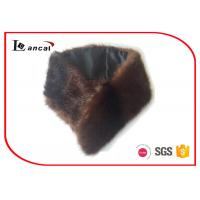 Wholesale Adults Brown Faux Fur Scarf Modacrylic With SGS / ITS / REACH Compliance from china suppliers