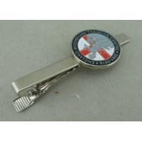 Wholesale Silver Personalized Tie Bar Cufflink For Promotional , Brass Tie Tack By Die Stamped from china suppliers