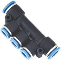 Wholesale Multiple Reducing Tee Pneumatic Push Fittings For Connecting Three Tubes from china suppliers
