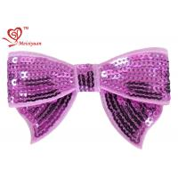 Wholesale Baby girl bows flower hair clips With Sequin 100% Polyester Satin Ribbon from china suppliers