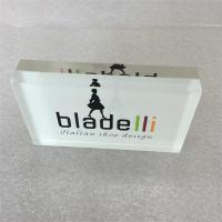 Wholesale Acrylic Logo Block Acrylic Brand Block solid lucite logo block for shop from china suppliers