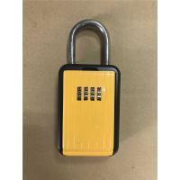 Wholesale Portable Type Car Key Lock Box , Car Key Safe Lock Boxes in Yellow from china suppliers
