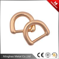 Wholesale Well quality d ring belt buckles , gold metal d ring buckle for backpack from china suppliers