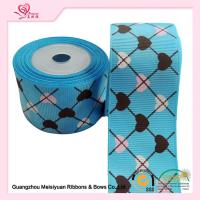 Buy cheap 2 Inch Custom Printed Grosgrain Ribbon ,  Heart Shape Printed Designer Grosgrain Ribbon from wholesalers