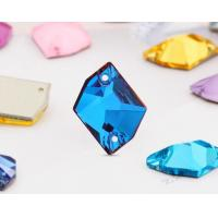 Wholesale Flat Back K9 Glass Jewelry Accessories Garment Trims Beads 2 Holes Sew on Rhinestones Ornament Strass Sewing Crystals from china suppliers