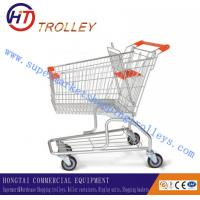 Wholesale Four Wheeled Supermarket Shopping Trolley Made Of Stainless Steel Wire from china suppliers