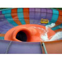 Quality Adults and Kids Aqua Park Fiberglass Water Slides , 16m Height Waterpark Space Bowl Rider Slide for sale