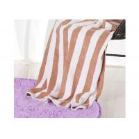 Wholesale Hotel 100% Cotton Beach Towels , Rectangle Cotton Terry Towel Water Soluble from china suppliers