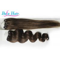 Wholesale Braided Virgin Malaysian Straight Hair Extensions With Micro Rings 1# 1B# 2# from china suppliers