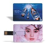 Wholesale AiL 2014 hotsale plastic customized logo mini card USB drive as promotional gift from china suppliers
