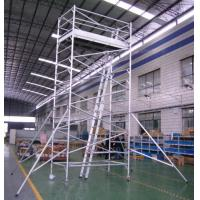 Wholesale Painting Plastering Safety Adjustble Aluminium Mobile Scaffold / Mobile Scaffolding Tower from china suppliers