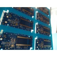 Quality 10up per Panel Matt Blue PCB Immersion Gold PCB Slots with V-cut Routing Milling and Tooling Strips for sale