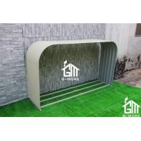 Quality 180x44x100cm Ivory Color Easy Assembly Galvanized Steel Wood Shelter for sale