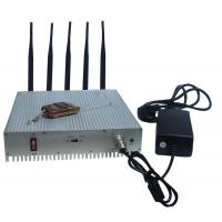 Wholesale Remote Control Cell Phone Signal Jammer / Power Adjustable Cell Signal Blocker Metal Shell from china suppliers