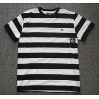 Wholesale Men's black and white,strip type T-shirt from china suppliers