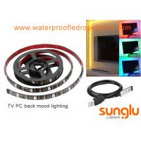 Wholesale USB 5V 8mm 5050 RGB LED Strip Lights Colour Changing Laptop PC Back Mood Lighting from china suppliers