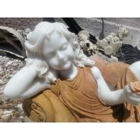 Buy cheap Child marble sculpture,colorful marble sculpture for garden,china sculpture supplier from wholesalers