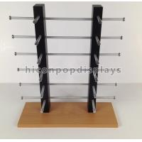 Wholesale 12 Pairs Wood Sunglass Display Desktop , Custom Eyewear Display Rack Simple Design from china suppliers
