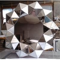 Wholesale sloping glass frame mirrors Decorative Mirror Wall Art Mirror 3D Flower Mirrors from china suppliers