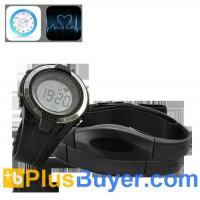Wholesale Heart Rate Monitor with Wrist Stop Watch and Chest Belt from china suppliers