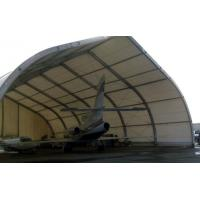 China Curve Airplane Tent , Aluminum Structure Tent With Automatic Or Manual Lifting Door on sale