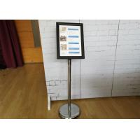 Wholesale Versatility A4 Poster Display Stands / Adjustable Hight Floor Standing Poster Holder from china suppliers