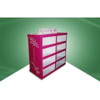 Wholesale Rose Red Strong Paper Cardboard Pallet Display in Stores 80X60X130CM from china suppliers